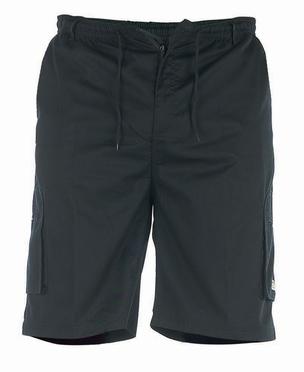 Cargo shorts 'NICK' m. elastisch boord, donker grijs