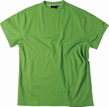 US T-shirt, effen groen
