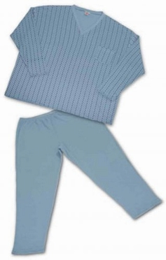 Winter flanel pyjama, wolkenblauw