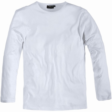 Long sleeve t-shirt, effen wit