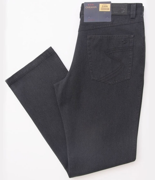 "Stretch Denim Jeans (34"" lang), navy"