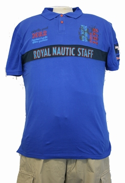 Polo piqué 'Royal Nautic Staf', koningsblauw