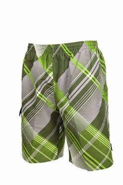 Zwemshort streepruit, grijs/groen