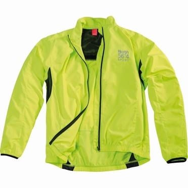 Cycling windjack, neon geel