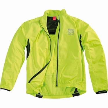 Cycling windjack, neon geel