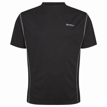 Sportshirt, effen zwart