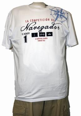 T-shirt 'Navegado', wit