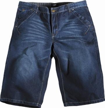 Jeans capri, denim blauw