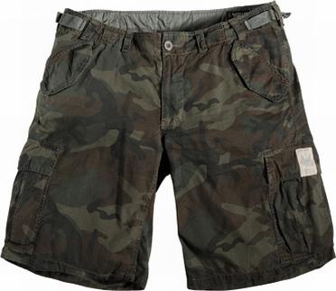 Shorts camouflage-look, groen/bruin