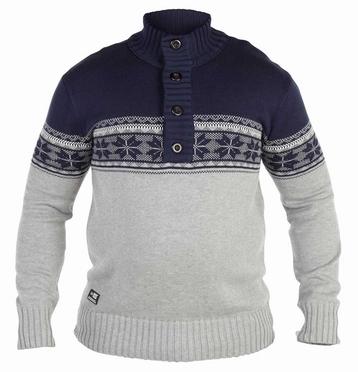 HOGAN jacquard pullover, navy/grijs mélee