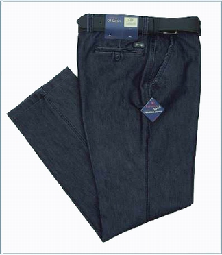 "Stretch Denim broek (32"" regular lengte), navy"