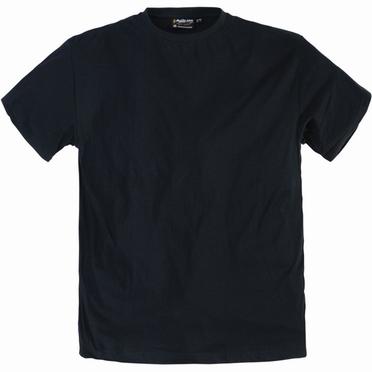 US T-shirts 2-pack, effen zwart (2 stuks)