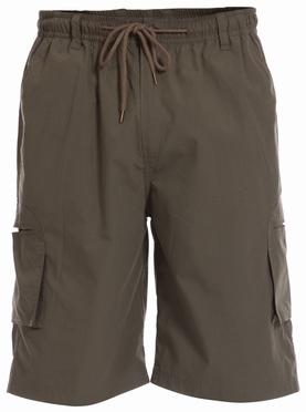 Cargo shorts 'NICK' m. elastisch boord, khaki (groen)