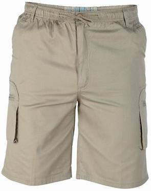 Cargo shorts 'NICK' m. elastisch boord, sand (beige)