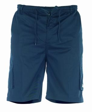 Cargo shorts 'NICK' m. elastisch boord, navy blauw