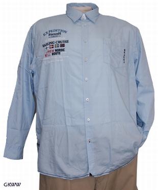 Kitaro overhemd 'Sailing Cruise', licht blauw
