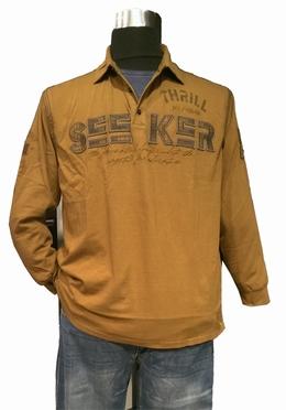 Poloshirt lange mouw 'Thrill Seeker', brons