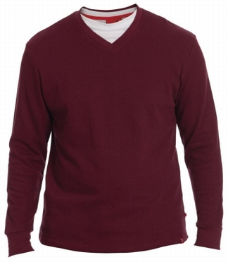 D555 Pullover met inzethals (in 4 kleuren verkrijgbaar)