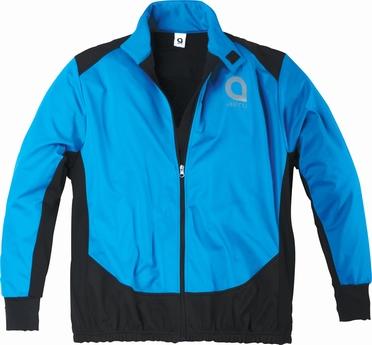 Cycling soft shell jack, blauw/zwart