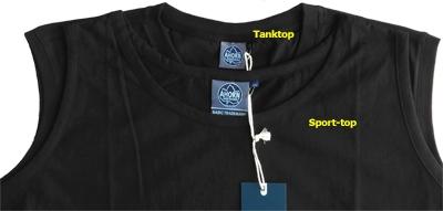 Ahorn Sport-top, effen zwart