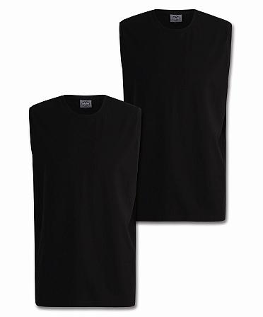 Ahorn Tanktop 2-pack Basic, zwart