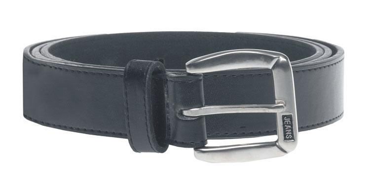 BLACK lederen broekriem KS812, kleur zwart