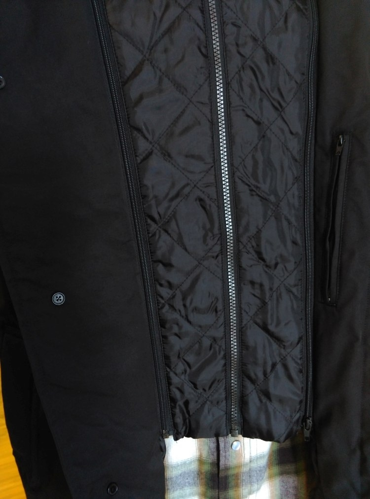 Canson lange winterjas afn. binnenkraag, zwart