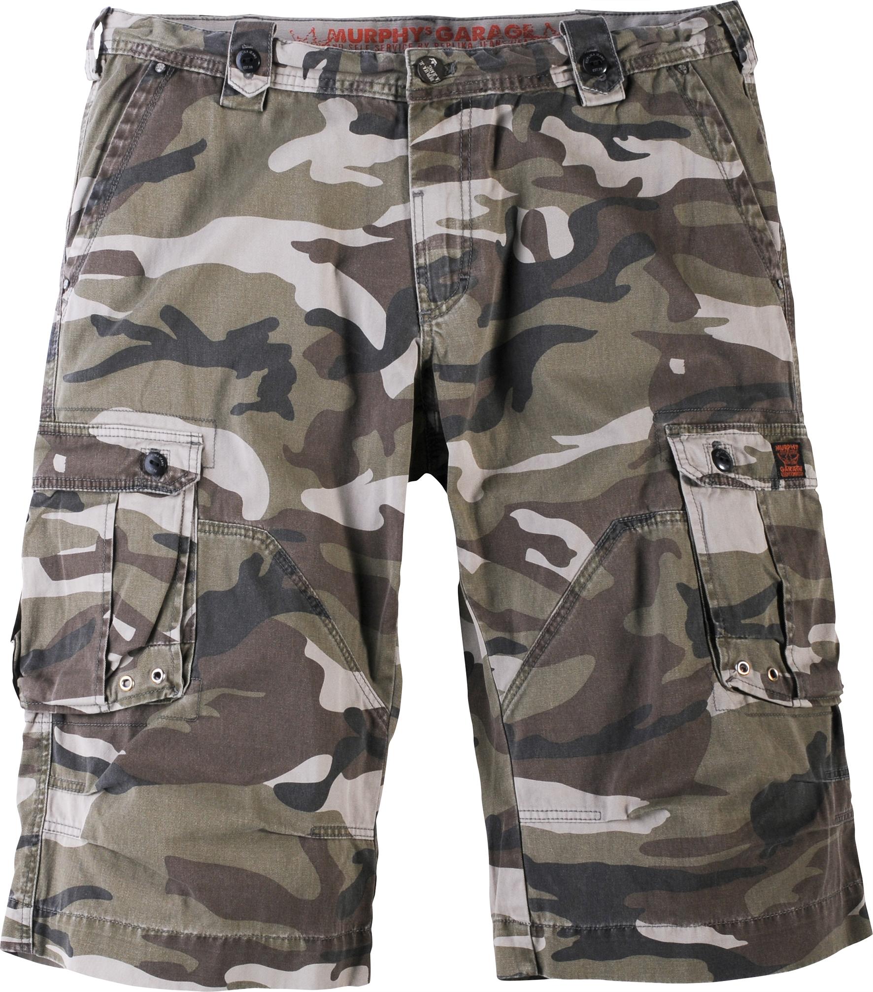 Capri camouflage-look, camo groen