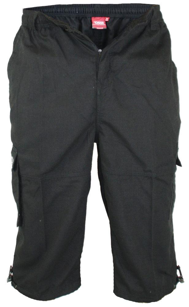 Cargo capri 'MASON' m. elastisch boord, zwart