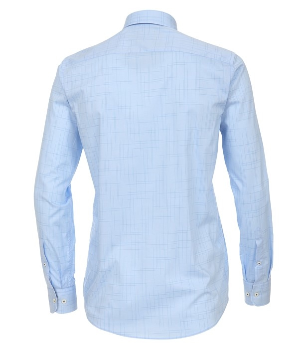 Casa Moda Casual Fit overhemd LM stretch, blauw lijnen
