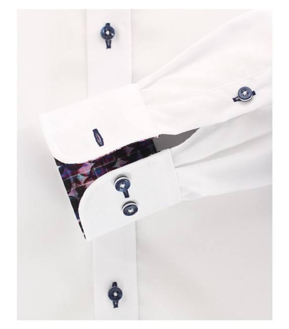 Casa Moda Club Edition overhemd lange mouw, wit/paars