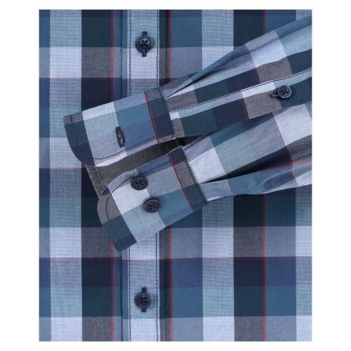 Casa Moda Kent overhemd Casual Fit, bl/petrol ruit