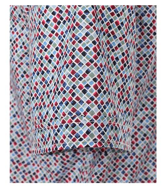 Casa Moda Kent overhemd KM Casual Fit, blokjes red/blue