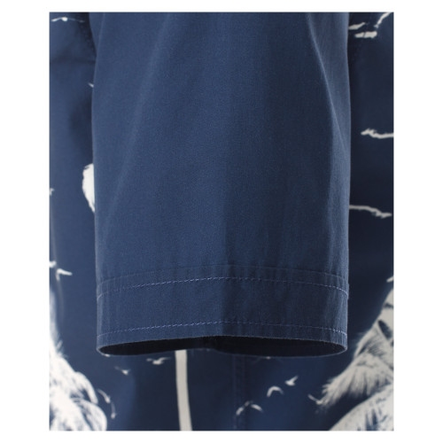 Casa Moda Kent overhemd KM Casual Fit, palm navy