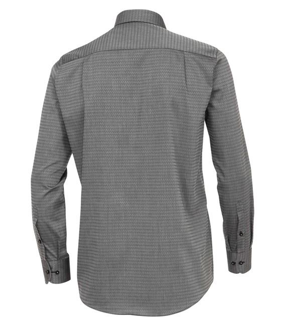 Casa Moda Sports overhemd lange mouw, licht grijs caro