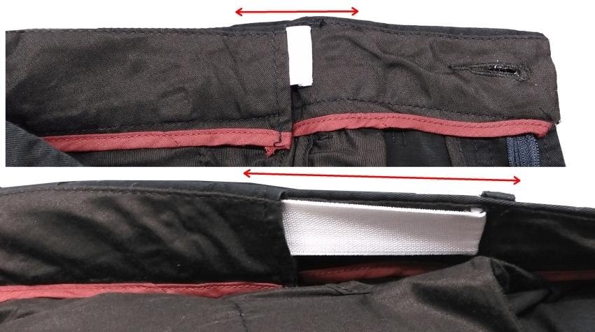 Chino shorts m. verstelbare taille, donker navy