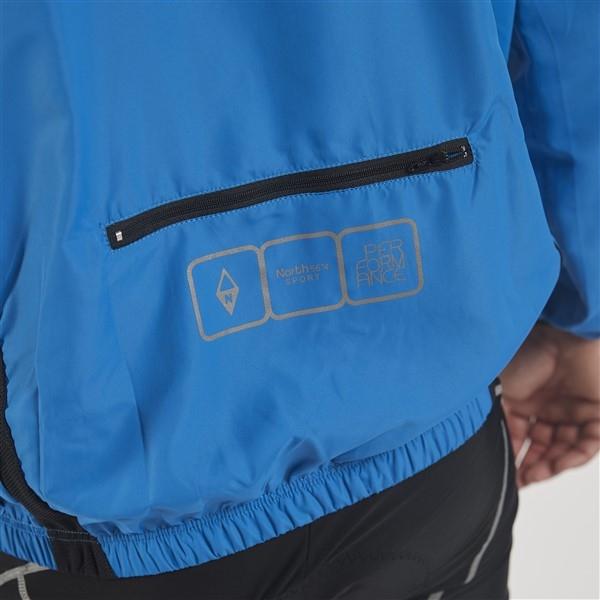 Cycling waterafstotend windjack, kobalt blauw