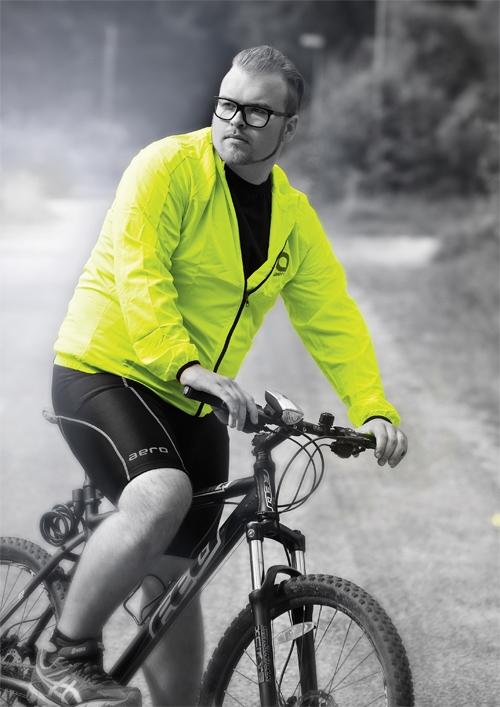 Cycling windjack, zwart
