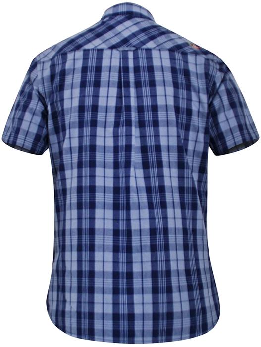 D555 Shirt GENOA met T-shirt (set), blauw geruit
