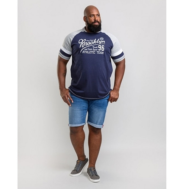 D555 T-shirt 'Brooklyn Athletic Team', navy
