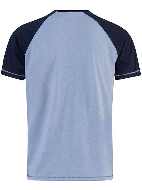 D555 T-shirt 'New York City', l.blauw/navy