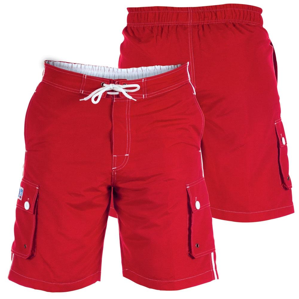 D555 Zwemshort m. zijpockets, rood