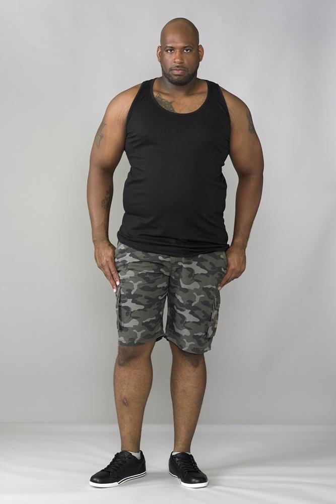 DUKE Tank top, zwart-wit-navy