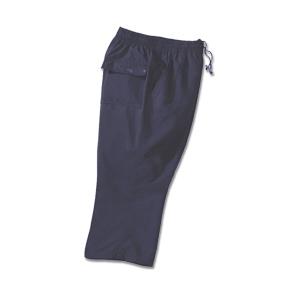Fitness capri microvezel, effen navy blauw