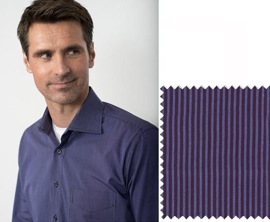 GCM Overhemd fijn streepje lange mouw, paars