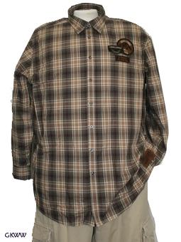 Kitaro overhemd 'Challenge', bruin geruit