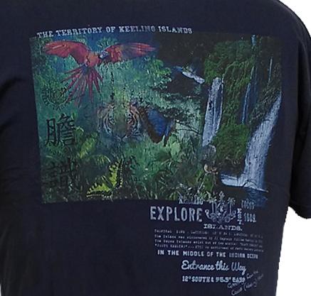 Kitaro t-shirt Explore Keeling Islands, navy