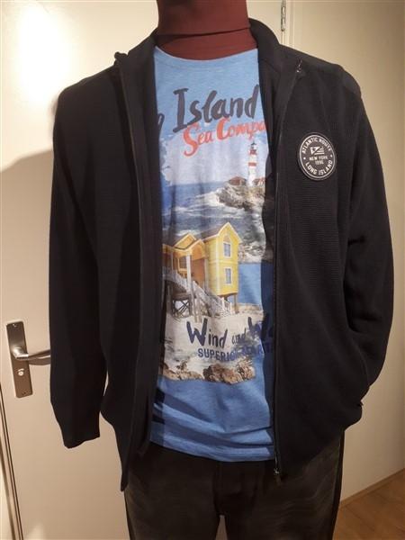 "Kitaro Vest m. rits ""Long Island"", grijs"