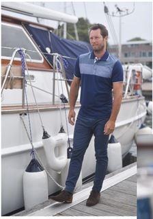 Meantime Polo Maritime met borstzakje, navy blauw