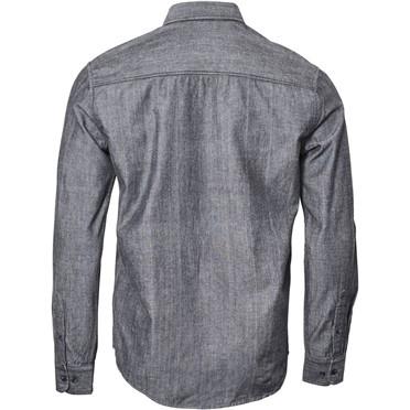 North 56°4 Chambray overhemd borstzakje, blauw